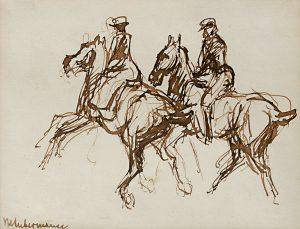 Liebermann Tuschzeichnung Graphik Auktion Ergebnisse