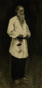 Repin, Porträt von Leo Tolstoi, Auktion München