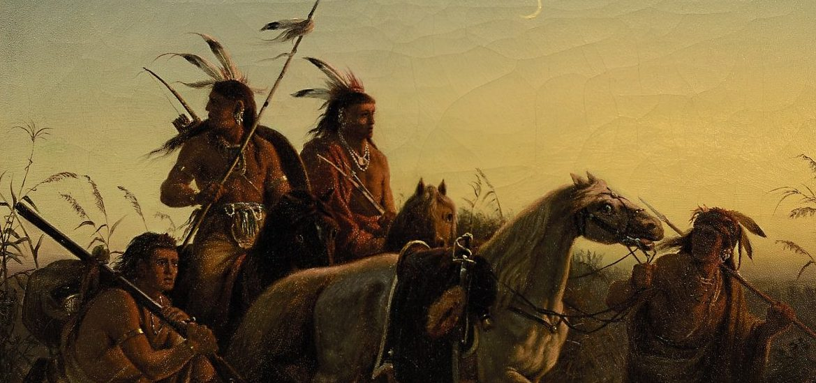 Wimar Captive Charger Ölstudie Indianer Auktion München