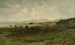 Gemälde 19. Jahrhundert Landschaftsmalerei Maximilian von Pechmann Chiemsee-Landschaft