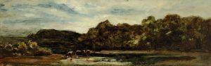 Gemälde 19. Jahrhundert Landschaftsmalerei Eduard Schleich d.Ä.