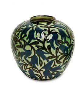 Jugendstil-Keramik: Vase von Max Laeuger, Tonwerke Kandern, versteigert in München in der Auktion am 30. Juni 2017 bei Scheublein Art & Auktionen