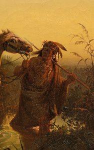 Wimar Karl Ferdinand Charles, Captive Chargers, Ölstudie mit Indianern und Pferden, aus dem Angebot der Juni-Auktion von Scheublein Art & Auktionen München
