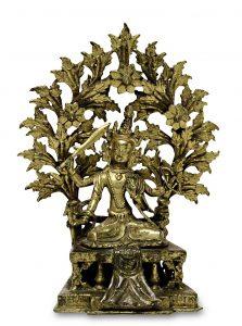 Bodhisattva / Caturbhuja Manjushri, Tibet. Asiatika, Scheublein Art & Auktionen, München
