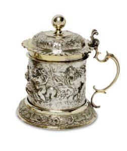 Augsburger Silber Deckelhumpen Auktion München