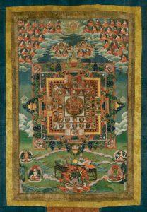 Auktionsergebnisse Scheublein Art & Auktionen, München, Kategorie Asiatika: tibetischer Thangka