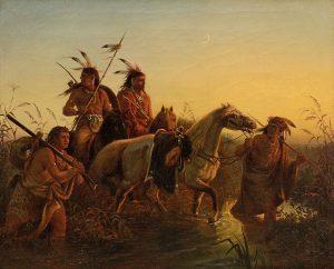Gemälde 19. Jahrhundert Auktion München Indianer Wimar