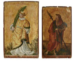 Altmeister Gemälde 16. Jh Gemälde 17. Jh Scheublein Art & Auktionen München, Stephanus, Judas Thaddäus