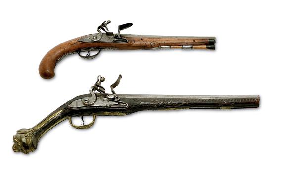 Steinschlosspistolen aus der Waffen-Offerte der Auktion am 16.3 ...