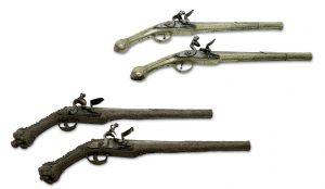 Steinschlosspistolen Pistolen Waffen Auktion München Scheublein