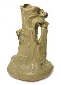 Vase Jugendstilkeramik Friedrich Goldscheider Scheublein Art & Auktionen München