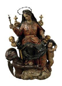 Muttergottes Satan Skulptur Spanien Auktion Scheublein
