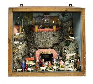 Krippe Kastenkrippe Weihnachtskrippe Böhmen Auktion Scheublein München