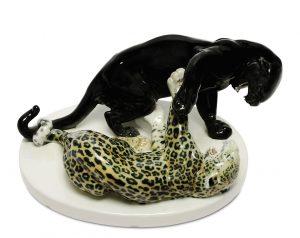 Meissen Rudolf Löhner Panther Leopard Auktion München Scheublein
