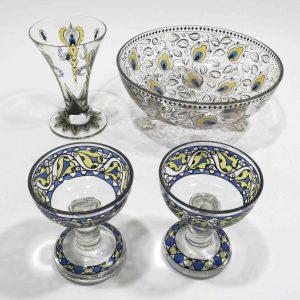 Jugendstilglas Steinschönau Auktion München Scheublein.
