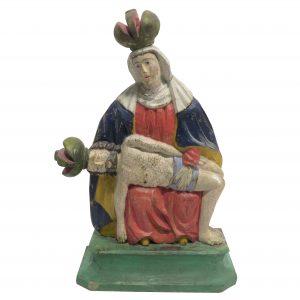 Holzscheitelmadonna Pieta Sastin Auktion München Scheublein