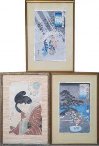 Japan Holzschnitt Farbholzschnitt Kuniyoshi Auktion München Scheublein