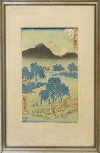 Japan Holzschnitt Farbholzschnitt Hiroshige Auktion München Scheublein