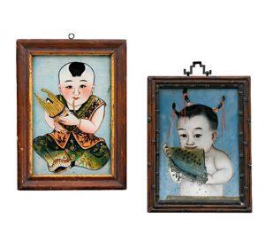 Hinterglasbild China Auktion München Scheublein