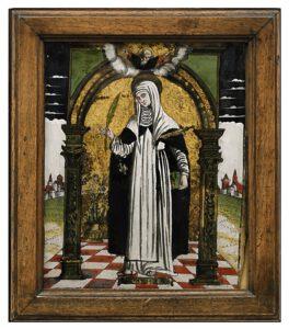 Heilige Giustina Hinterglas Venetien Tirol Auktion München Scheublein