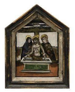 Hinterglasbild Beweinung Christi Venetien-Tirol Auktion München Scheublein