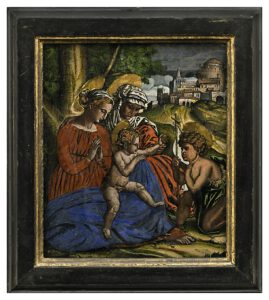 Madonna della Palma, Hinterglas, Venetien-Tirol, Auktion München Scheublein